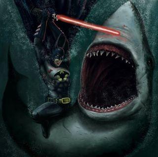 Batmanwithashark